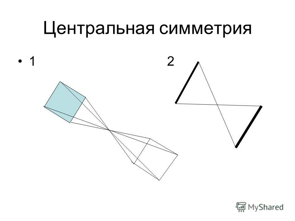 Центральная симметрия 1 2