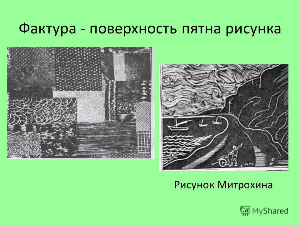 Фактура - поверхность пятна рисунка Рисунок Митрохина