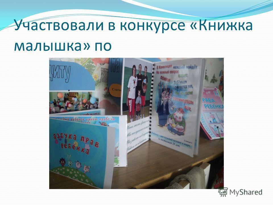 Участвовали в конкурсе «Книжка малышка» по