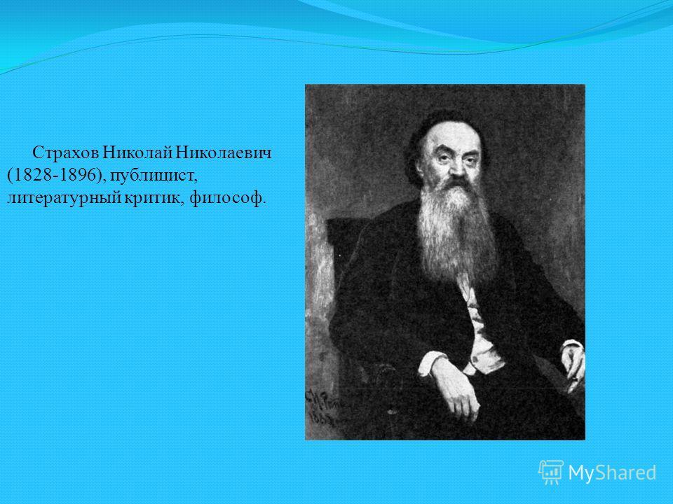 Страхов Николай Николаевич (1828-1896), публицист, литературный критик, философ.