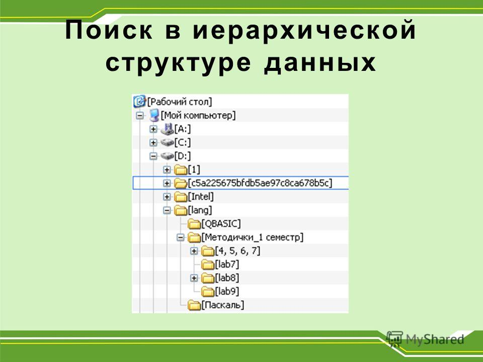 Поиск в иерархической структуре данных