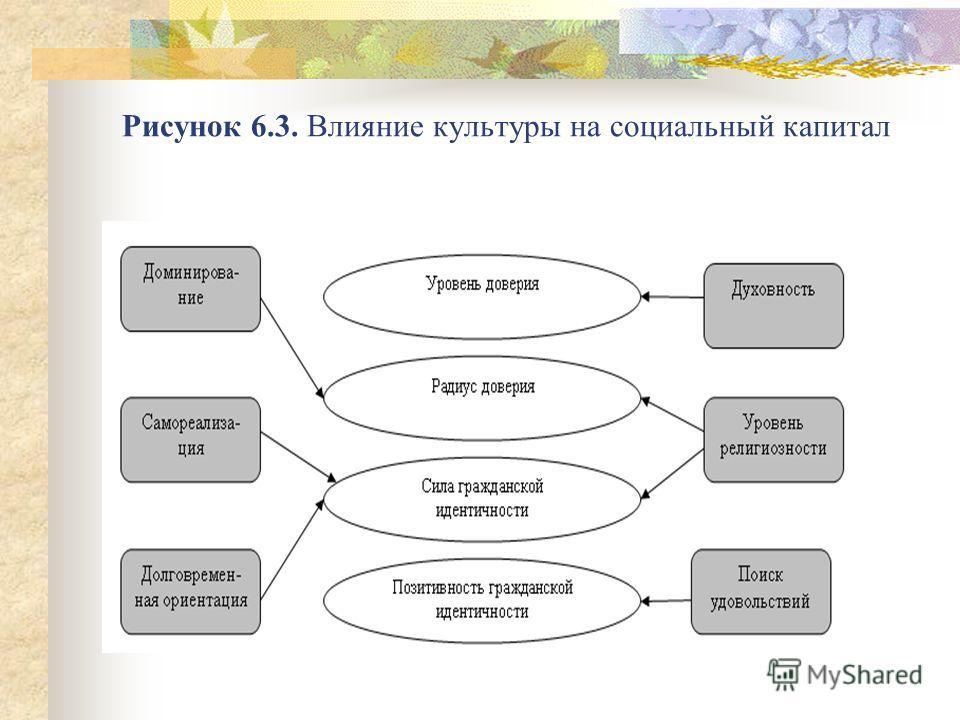 Рисунок 6.3. Влияние культуры на социальный капитал