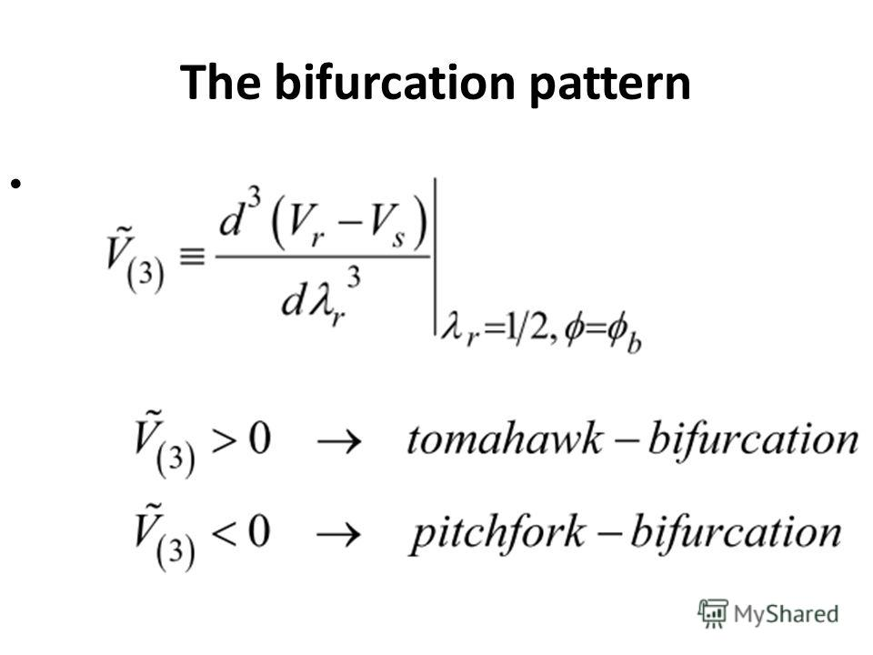 The bifurcation pattern