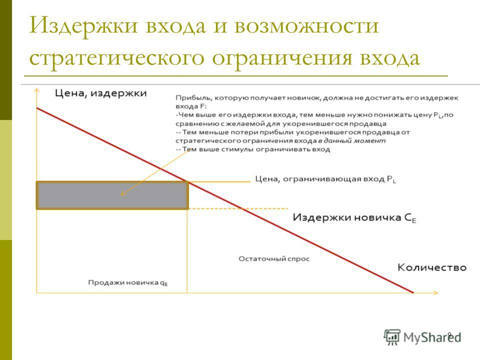 9 Издержки входа и возможности стратегического ограничения входа