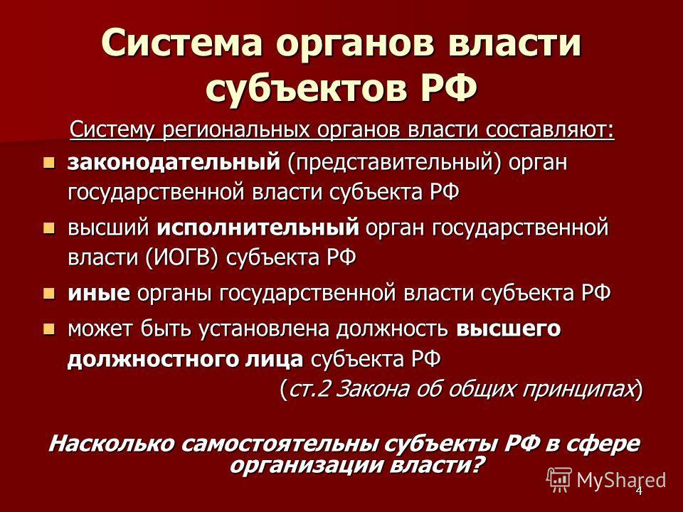 4 Система органов власти