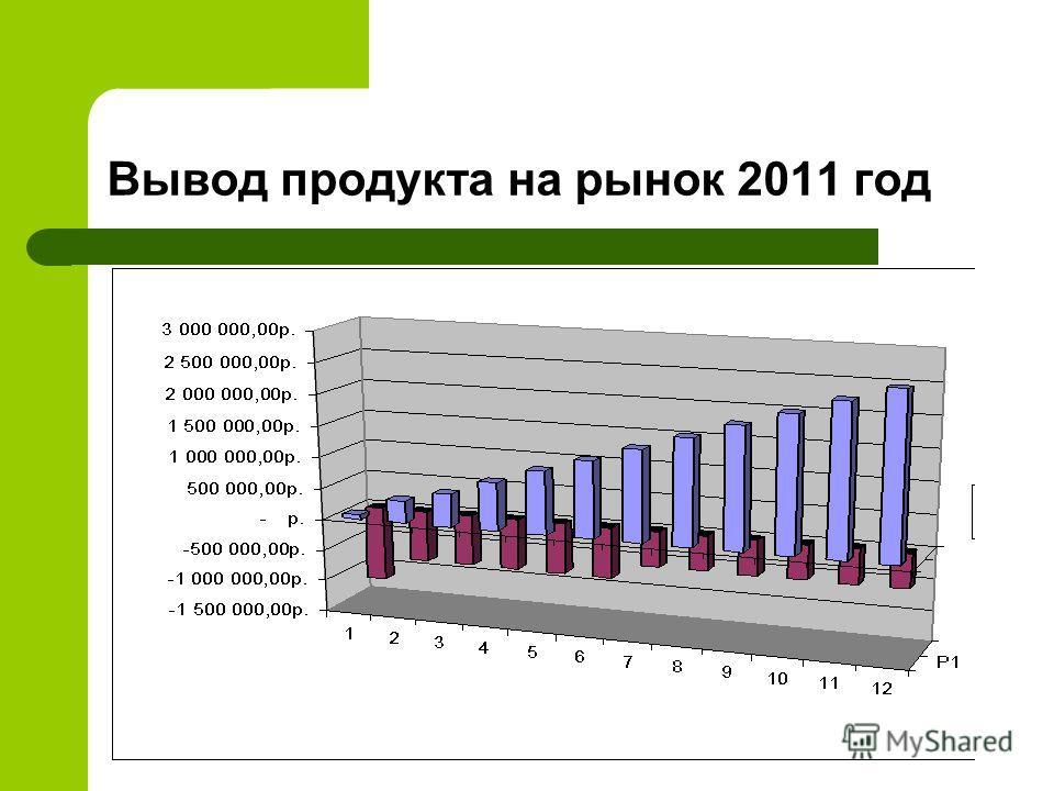 Вывод продукта на рынок 2011 год