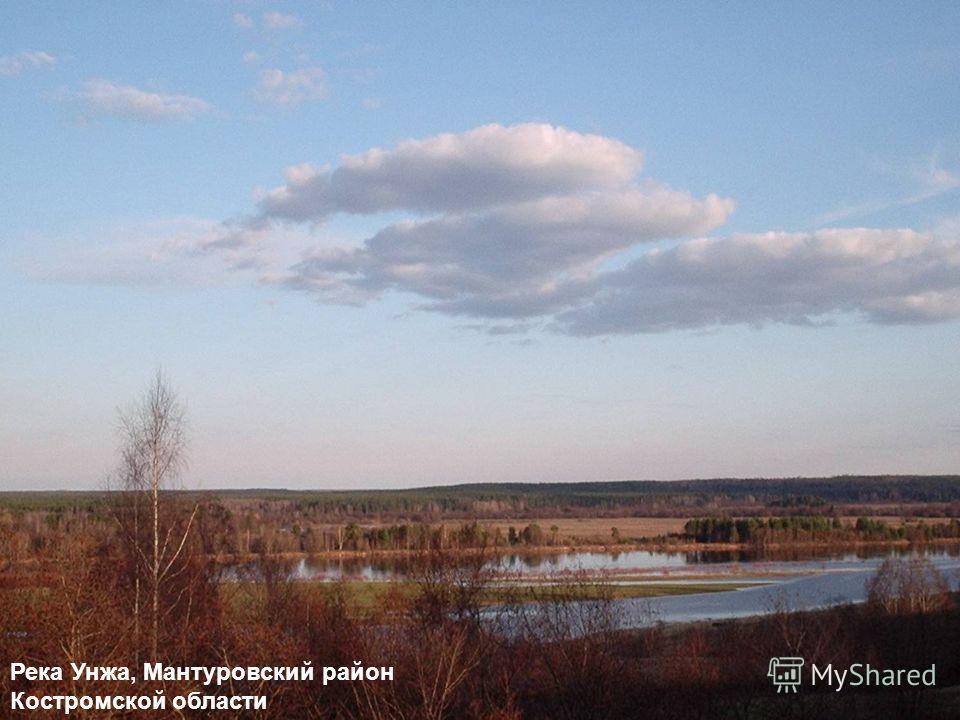 Река Унжа, Мантуровский район Костромской области
