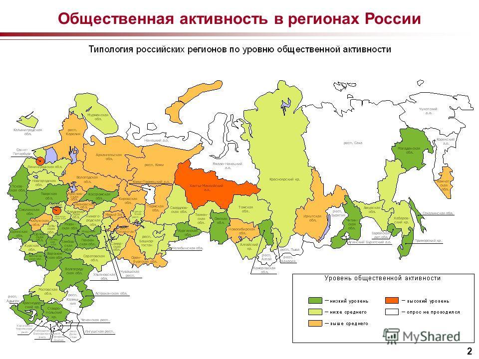 2 Общественная активность в регионах России