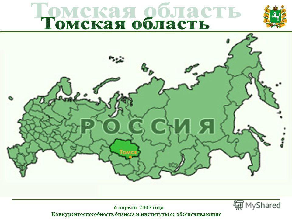 Томск 6 апреля 2005 года Конкурентоспособность бизнеса и институты ее обеспечивающие