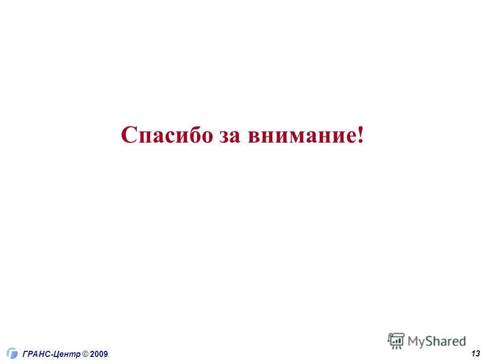 ГРАНС-Центр © 2009 13 Спасибо за внимание!