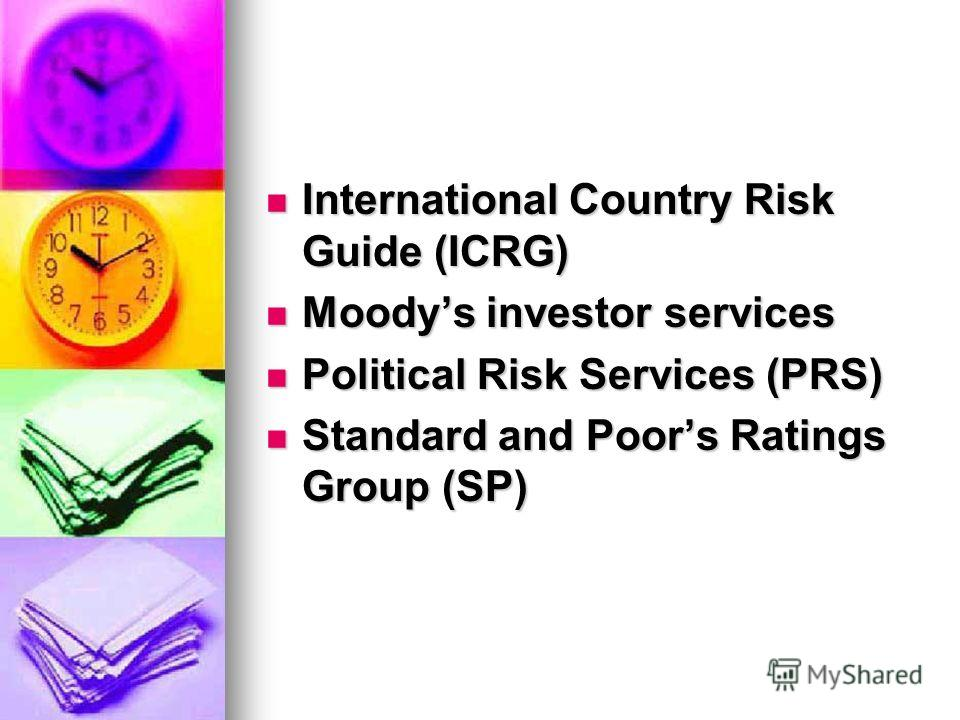 political risk services international country risk guide