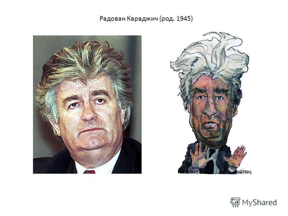 Радован Караджич (род. 1945)
