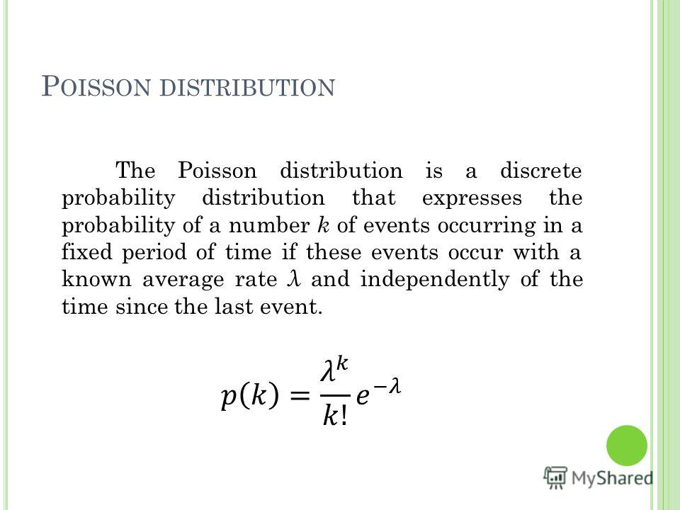 P OISSON DISTRIBUTION 4