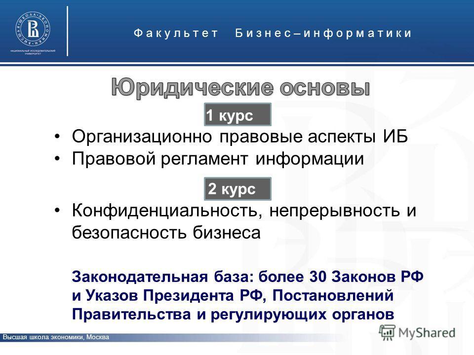 Ф а к у л ь т е т Б и з н е с – и н ф о р м а т и к и Высшая школа экономики, Москва