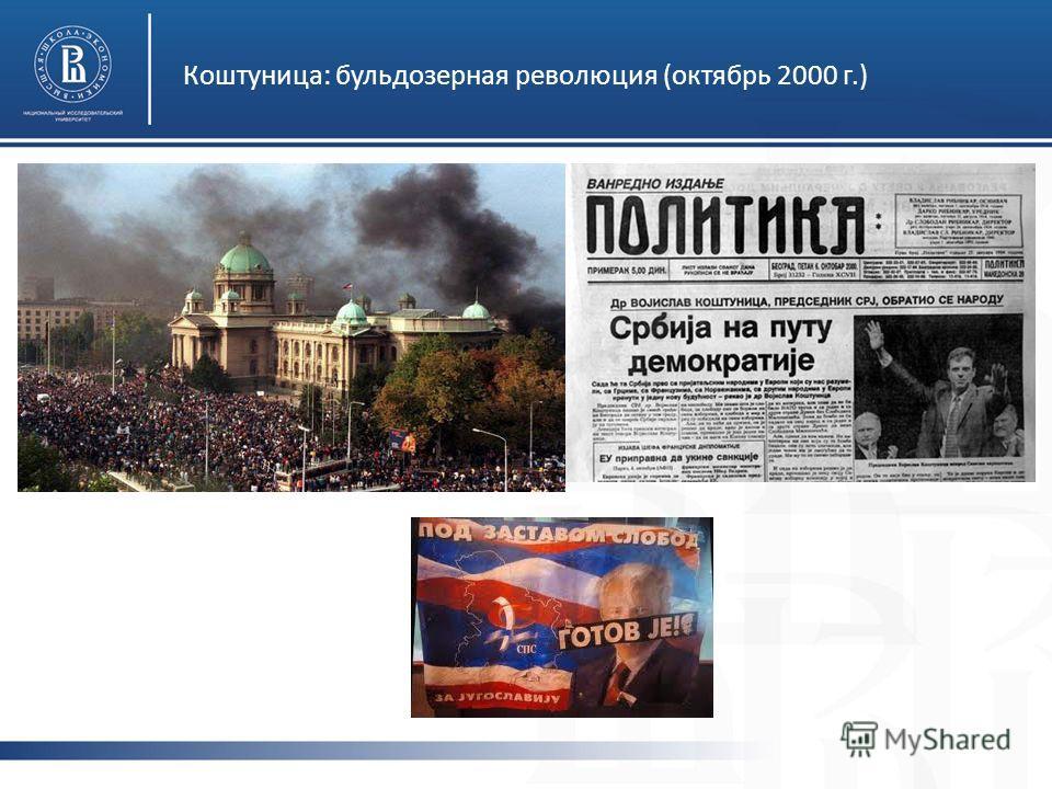 Коштуница: бульдозерная революция (октябрь 2000 г.)