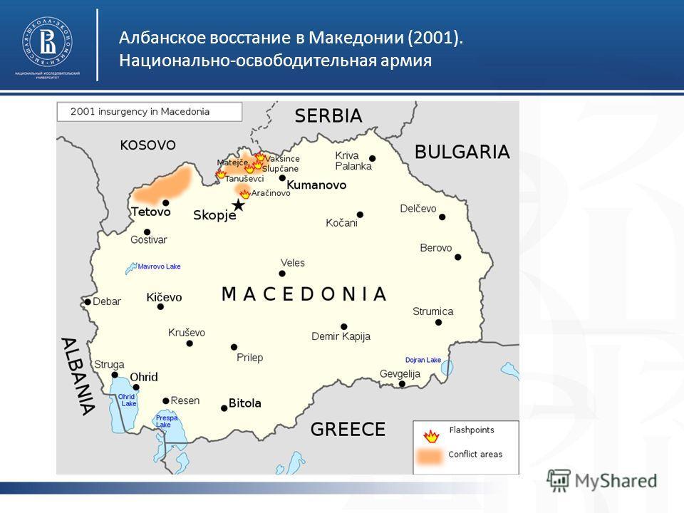 Албанское восстание в Македонии (2001). Национально-освободительная армия
