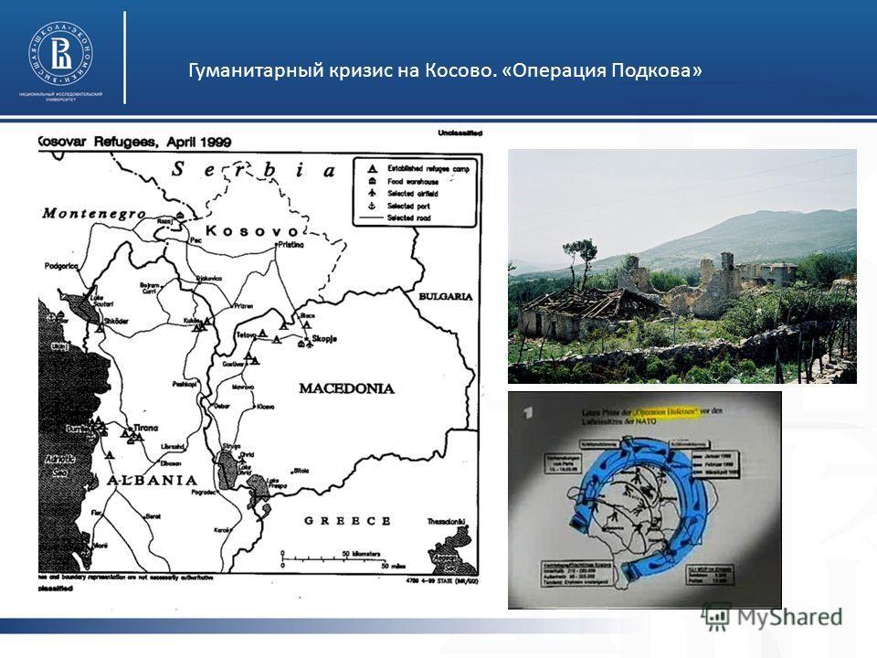 Гуманитарный кризис на Косово. «Операция Подкова»
