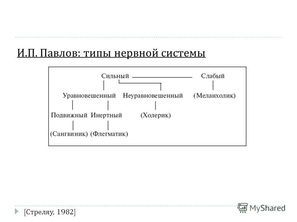 И. П. Павлов : типы нервной системы [ Стреляу, 1982]