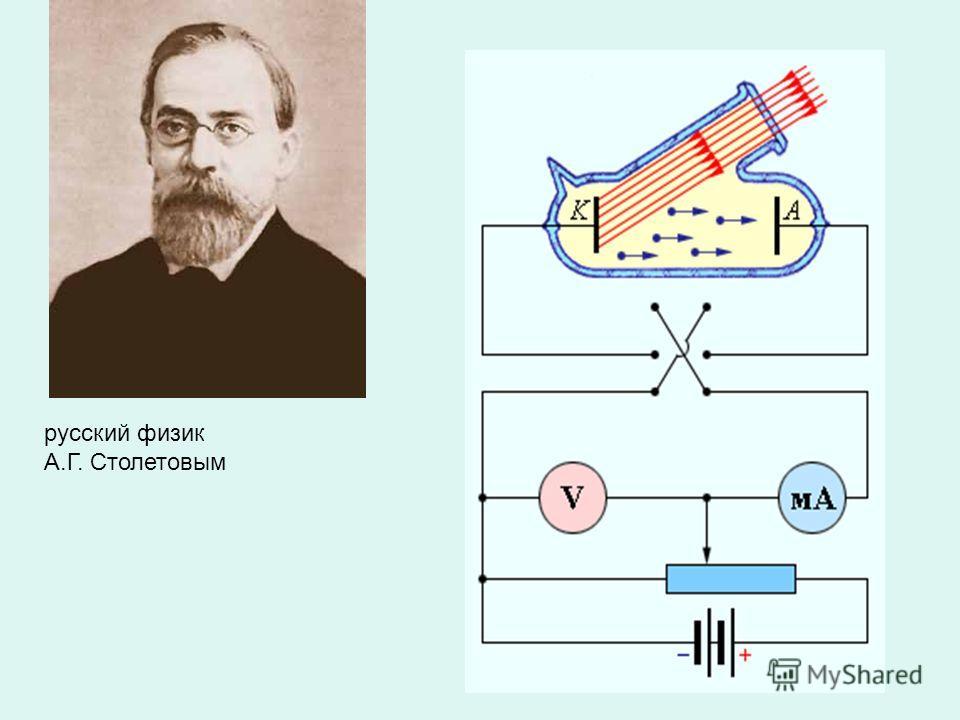 русский физик А.Г. Столетовым