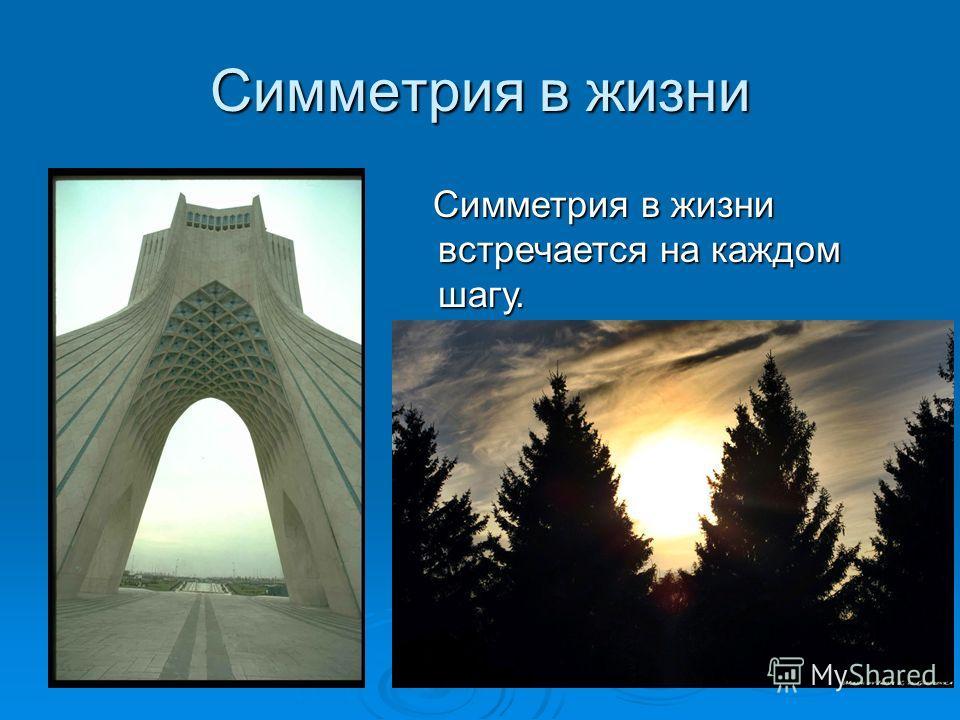 Разновидности симметрии Различают три вида симметрии : Различают три вида симметрии : - симметрия относительно прямой - симметрия относительно точки - симметрия относительно плоскости