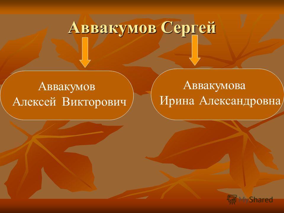 Аввакумов Сергей Аввакумов Алексей Викторович Аввакумова Ирина Александровна