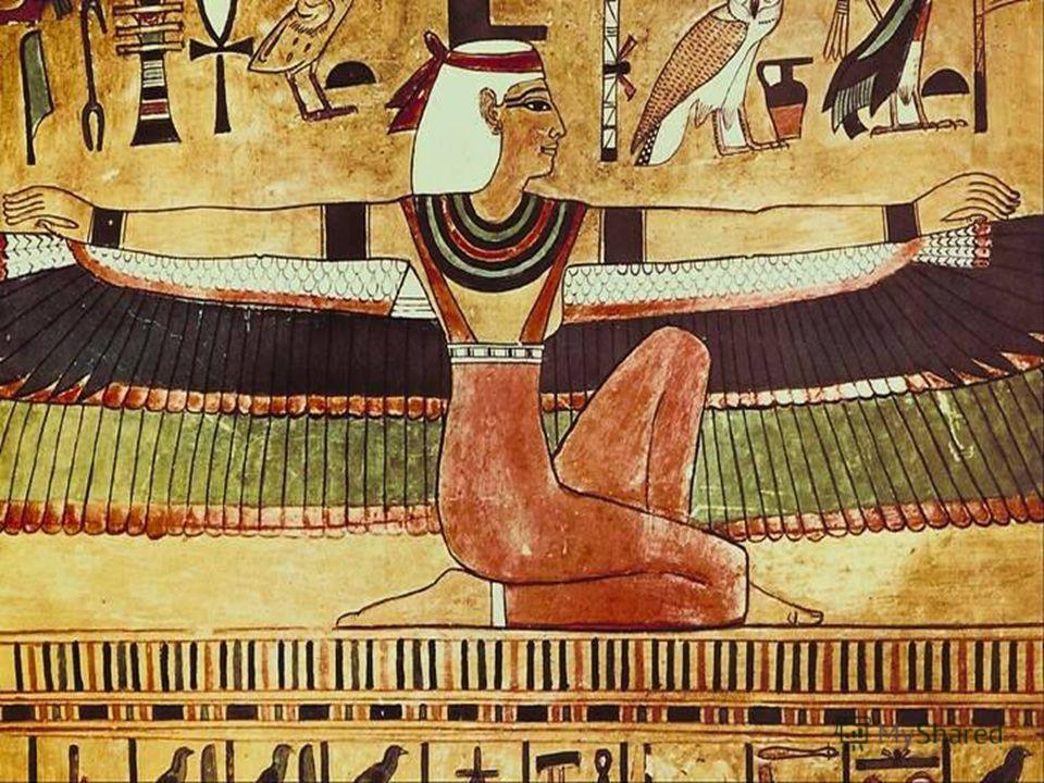 В рисунках на папирусах и в росписях гробниц и храмов лицо и ноги человека изображались в профиль, а глаза, плечи и руки так, как будто мы смотрим на них спереди.