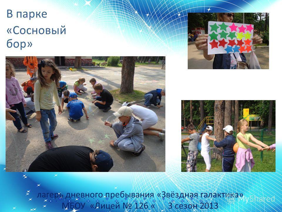 лагерь дневного пребывания «Звёздная галактика» МБОУ «Лицей 126 « 3 сезон 2013 В парке «Сосновый бор»