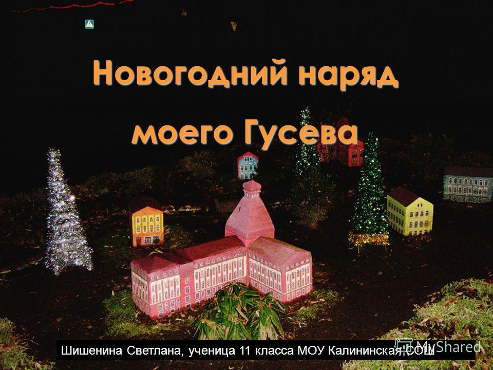 Новогодний наряд моего Гусева Шишенина Светлана, ученица 11 класса МОУ Калининская СОШ