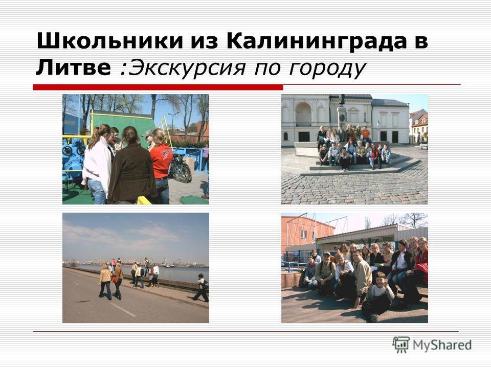 Школьники из Калининграда в Литве :Экскурсия по городу