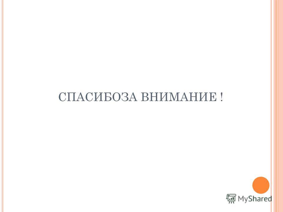 СПАСИБОЗА ВНИМАНИЕ !