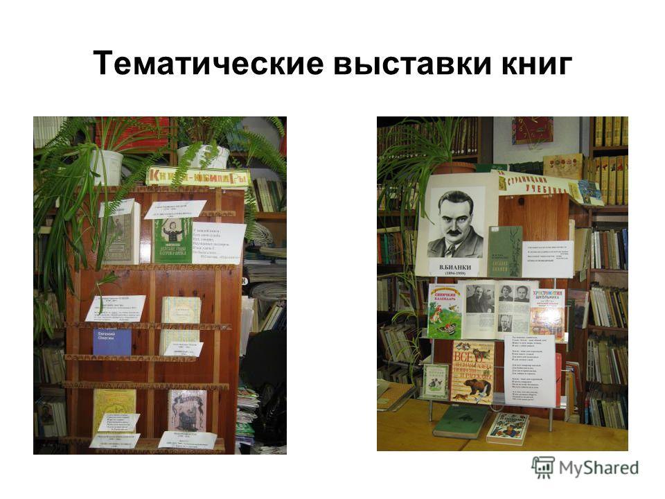 Тематические выставки книг