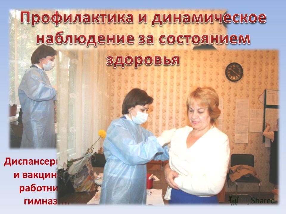 Диспансеризация и вакцинация работников гимназии