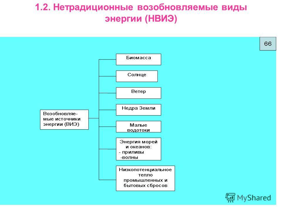 21 1.2. Нетрадиционные возобновляемые виды энергии (НВИЭ)