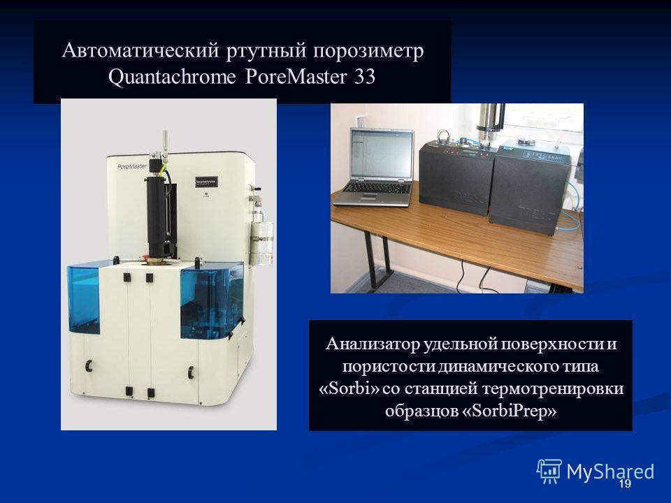 19 Автоматический ртутный порозиметр Quantachrome PoreMaster 33 Анализатор удельной поверхности и пористости динамического типа «Sorbi» со станцией термотренировки образцов «SorbiPrep»