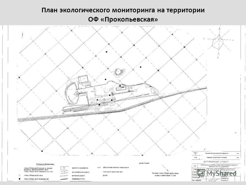 План экологического мониторинга на территории ОФ «Прокопьевская»