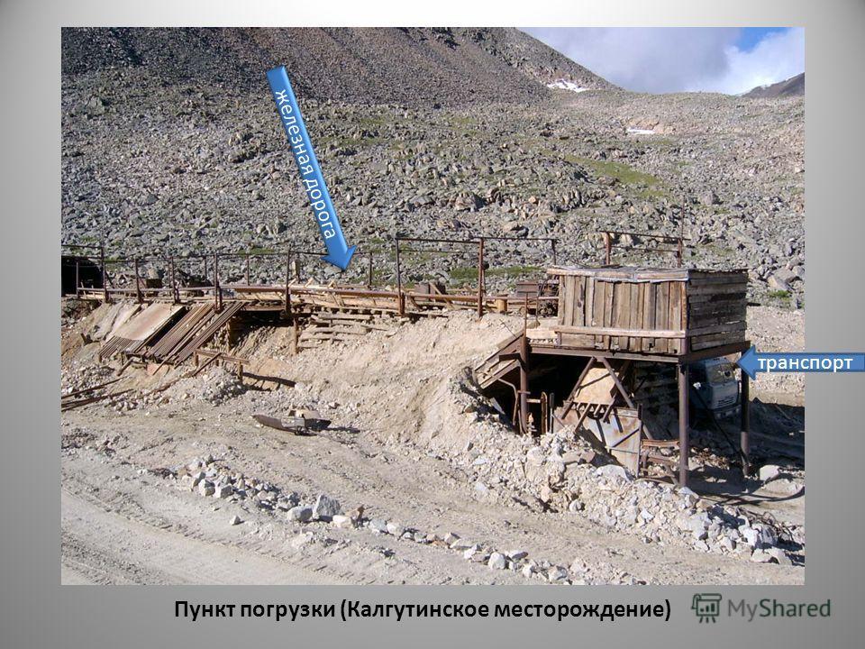 Пункт погрузки (Калгутинское месторождение) железная дорога транспорт