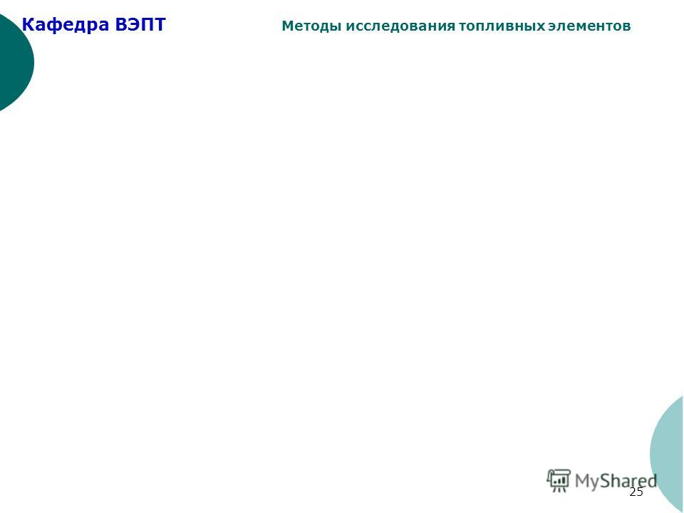 Кафедра ВЭПТ Методы исследования топливных элементов 25