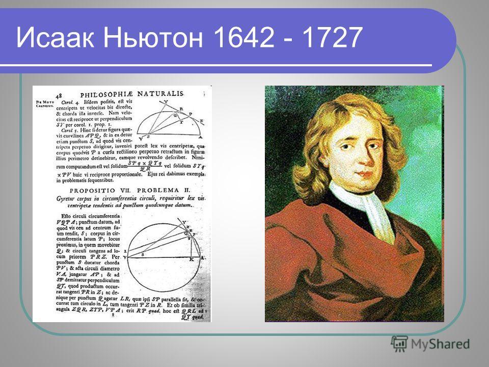Исаак Ньютон 1642 - 1727