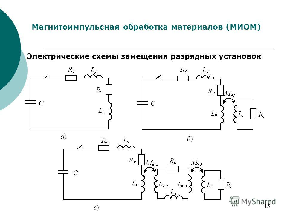15 Магнитоимпульсная обработка материалов (МИОМ) Электрические схемы замещения разрядных установок