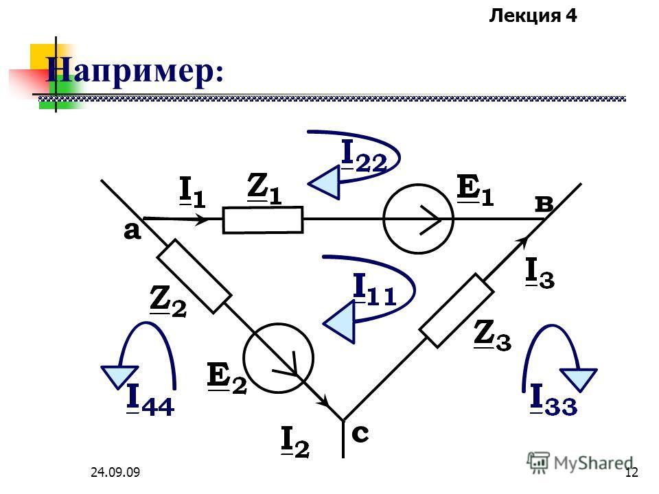 Лекция 4 24.09.0911 МКТ Независимые контура отличаются друг от друга наличием хотя бы одной новой по сравнению с остальными контурами ветви.