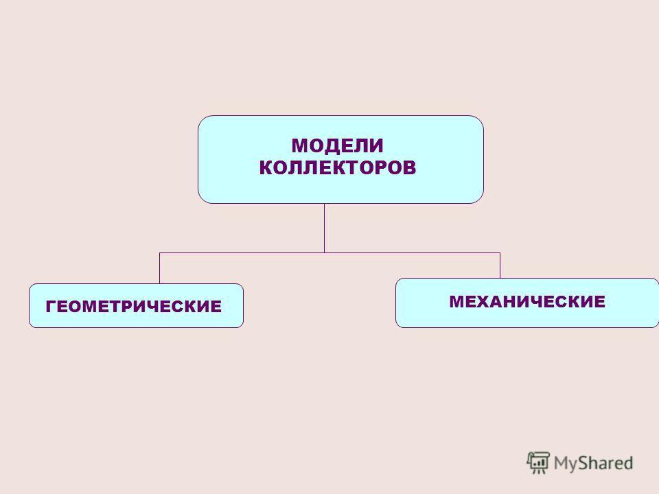 МОДЕЛИ КОЛЛЕКТОРОВ ГЕОМЕТРИЧЕСКИЕ МЕХАНИЧЕСКИЕ