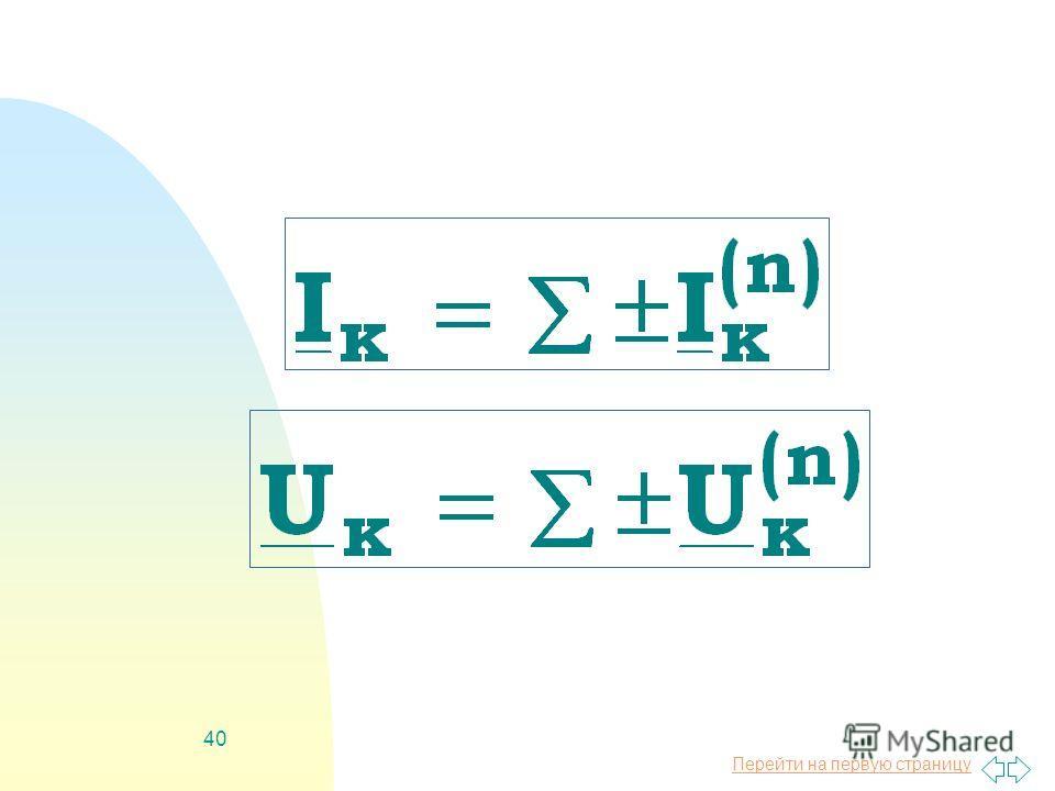 Перейти на первую страницу 39 Метод наложения справедлив для линейных цепей и основывается на принципе наложения, когда любой ток (напряжение) равен алгебраической сумме составляющих от действия каждого источника в отдельности