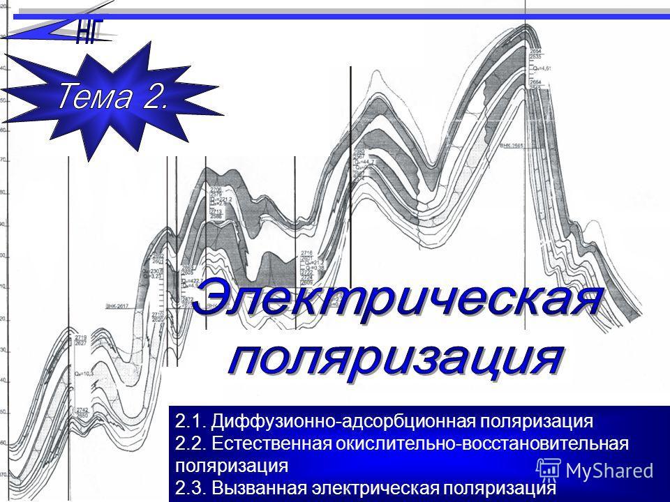 2.1. Диффузионно-адсорбционная поляризация 2.2. Естественная окислительно-восстановительная поляризация 2.3. Вызванная электрическая поляризация