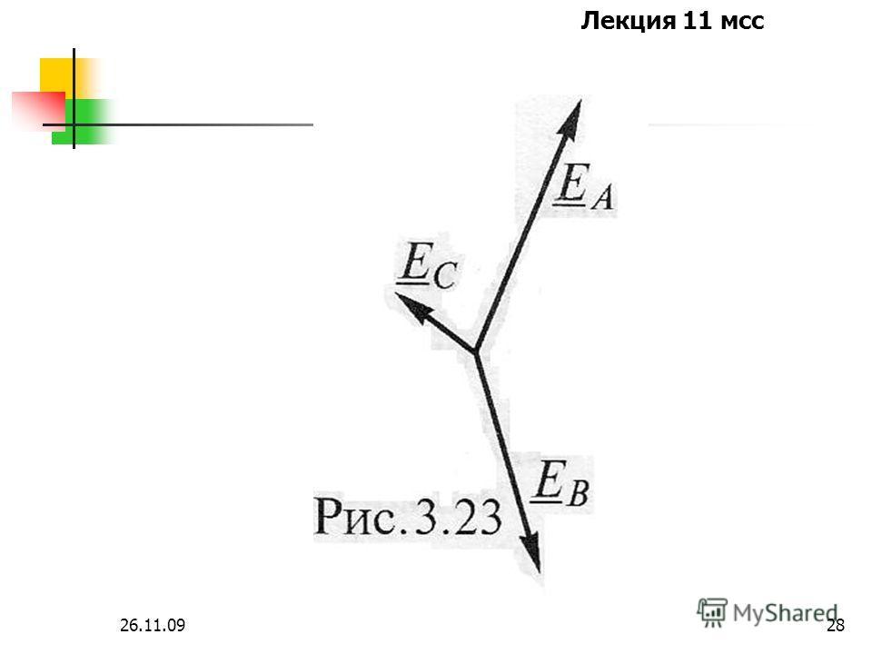 Лекция 11 мсс 26.11.0927 Построим симметричные составляющие для несимметричной 3-х фазной системы ЭДС, заданных графически на следующей картинке.