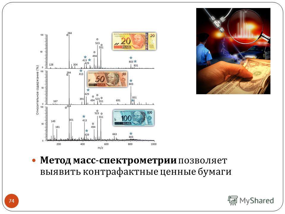 Метод масс - спектрометрии позволяет выявить контрафактные ценные бумаги 74