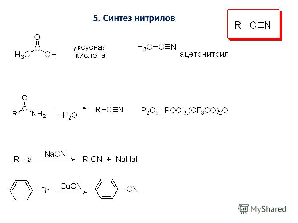 5. Синтез нитрилов
