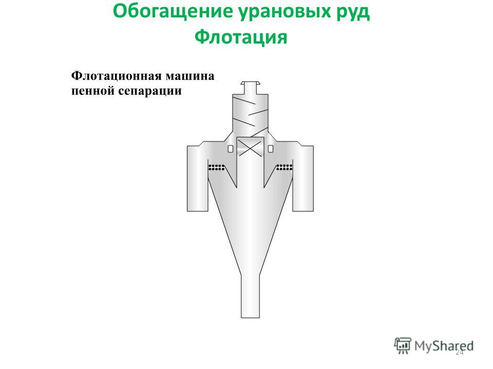 Обогащение урановых руд Флотация 24