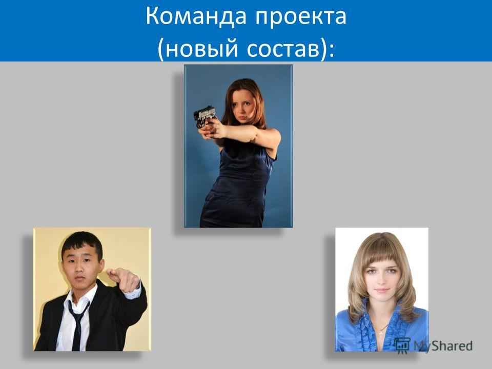 Команда проекта (новый состав):