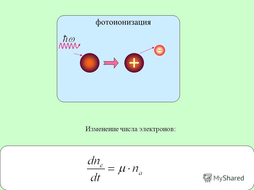 10 Изменение числа электронов: фотоионизация