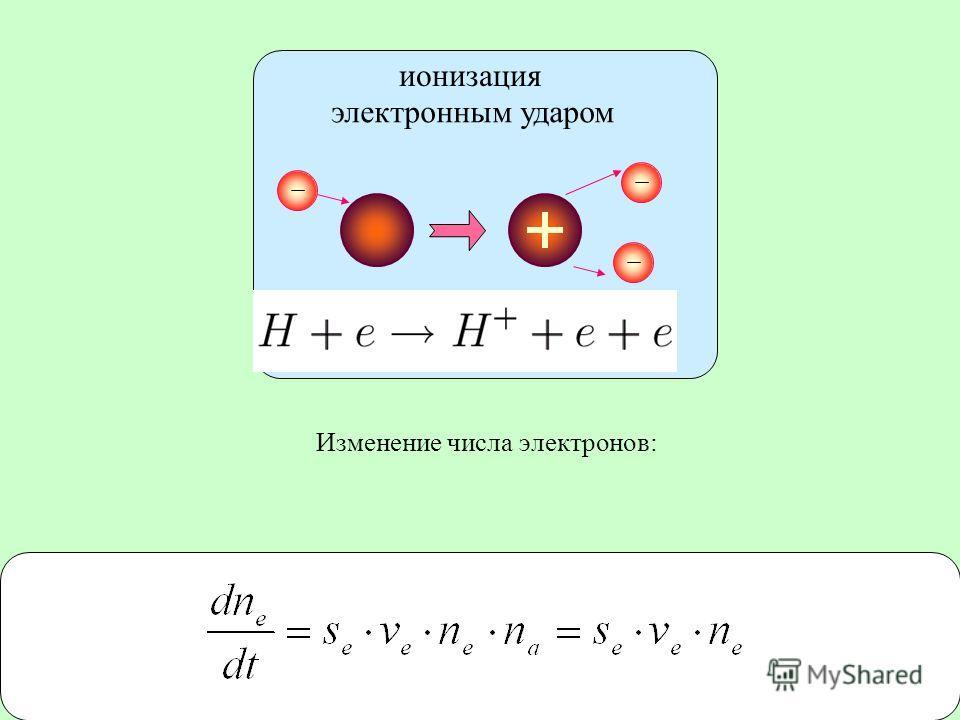 Литература ионизация электронным ударом Изменение числа электронов: